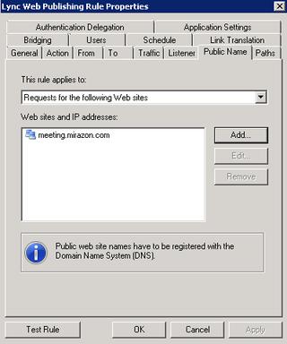 Lync 2010 - Reverse Proxy - Part 3 - Daryl Hunter - Network